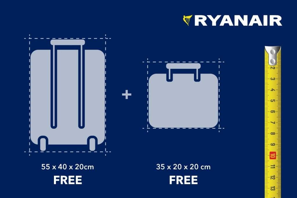 Limite de bagagem de mão da Ryanair