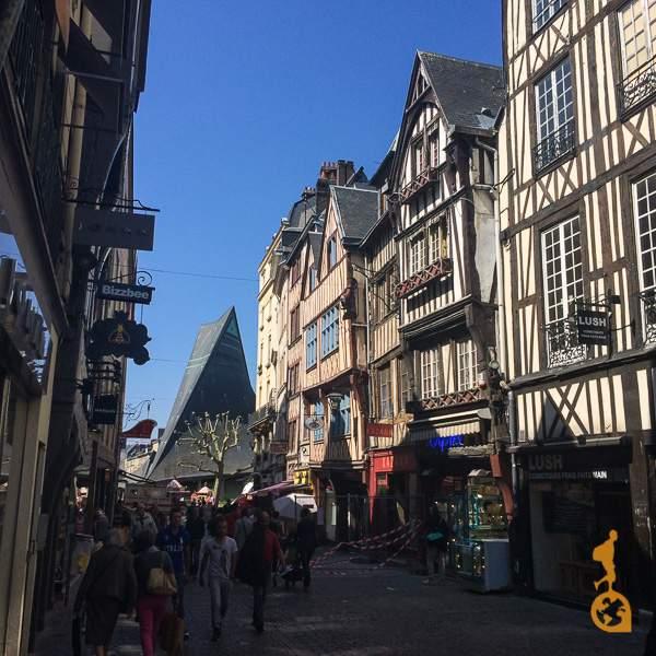 Ruas de Ruão, cidade de French in Normandy