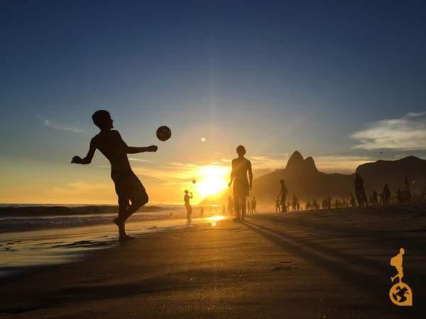 Por do sol praia de ipanema